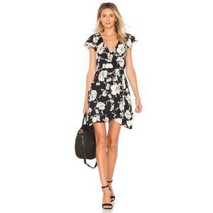 Free People French Quarter Mini Wrap Dress Size S